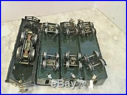 Lionel Prewar O Gauge 254 Engine 2 Passenger & Observation Car -work