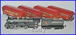 Lionel Prewar O Gauge 260e Loco, 263t & 3-710, 712 Passenger Cars Restored