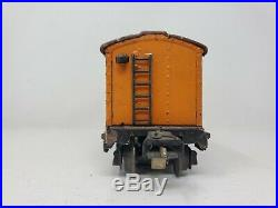 Lionel Prewar O Gauge 2814 Orange Tuscan Boxcar 1940