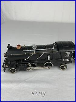 Lionel Prewar O Gauge Late 262E Satin on Nickel Steam Locomotive
