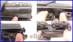 Lionel Prewar O Rare Gunmetal w Chuffer 260E Steam Locomotive & Whistling Tender