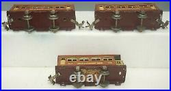 Lionel Prewar O-gaug 248 Locomotive With (2)529 Pullman & 630 Observation Cars