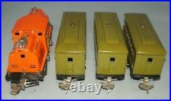 Lionel Prewar O-gaug 252 Locomotive With (2)529 Pullman & 630 Observation Cars