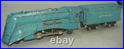 Lionel Prewar O-gauge 265e Blue Streak Locomotive & 265wx Whistling Tender