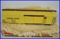 Lionel Prewar Oo Gauge 0014 Yellow Box Car, Near Mint, Boxed
