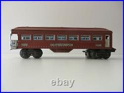 Lionel Prewar Passenger Cars one 2643 observation two 2642 coach cars