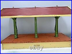 Lionel Prewar Standard Gauge 155 Freight Illuminated Station Shed Early Colors