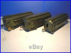 Lionel Prewar Standard Gauge 31 35 36 Nyc Passenger Car 3 Car Set. For Repair