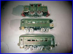 Lionel Prewar Standard Gauge # 33 Locomotive, Passenger & Observation Car