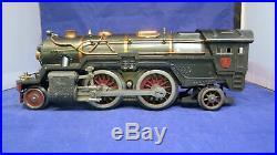 Lionel Prewar Standard Gauge 385E Locomotive & RARE Crackle GRAY 384T Tender! CT