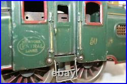 Lionel Prewar Standard Gauge #50 NYC Green Locomotive Engine RUNS 1924