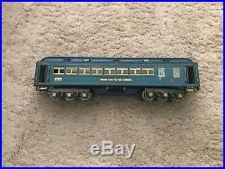 Lionel Prewar Standard Gauge Blue Comet Passenger Car Set 420 421 422