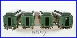 Lionel Prewar Standard Gauge Two Tone Green State Cars withboxes Nice condition