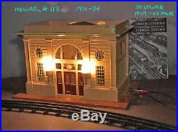 Lionel Rare PREWAR / Postwar #113 ILLUMINATED Tinplate STATION