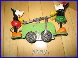 Lionel prewar Mickey Mouse Handcar green, windup, Disney antique withbox, trk, key