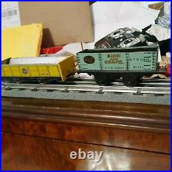 Lionel prewar o gauge 153 Engine And Two Gondolas