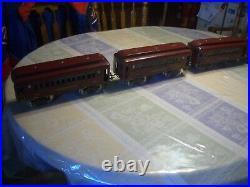 Orig Prewar Lionel Maroon Std Gauge #380 Passenger Set, 1923-27, Ex! Wow! Read
