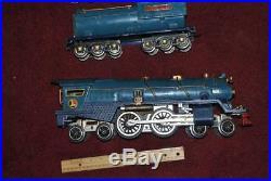 PREWAR LIONEL BLUE COMET STANDARD GAUGE SET withCOPPER TRIM 400E 400T 420 421 422