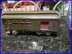 Pre War Lionel Standard Gauge No 33 0-4-0 Engine Baggage Observation Pullman