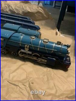 Pre-war Blue Comet Lionel standard gauge train set 400E 400T 420 421 422
