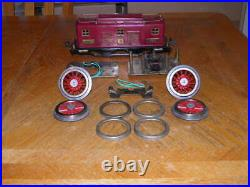 Prewar Lionel #8 Maroon Electric Engine Shell Wheels Parts Project Nice Shell