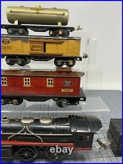 Prewar Lionel Jr. Steam Freight Set 1055E 1679 1682 Locomotive 1027 Station L23