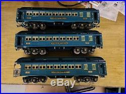 Prewar Lionel c. 1935 Blue Comet 400e With Three Pass. Cars. Standard Gauge READ