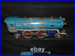 RARE Lionel Original Prewar Blue Comet #390E Loco and Tender