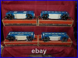 Set of 4 High-Grade Lionel Original Prewar BOXED Blue Comet Cars