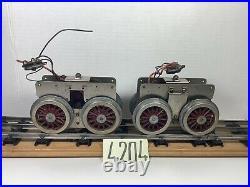 Two Lionel Prewar Standard Gauge # 402 & 408 Locomotive Super Motors