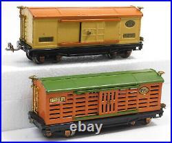 Used Lionel Prewar 813 Stock Car, 815 Tank Car, 817 Caboose, 812 Gondola, & 8