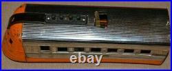 Vintage Lionel 1535 Prewar Streamliner Junior Windup Chrome Orange CA 1935