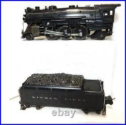 Vintage Lionel 225E Steam Engine w 2235W die-cast tender Runs well pre-war