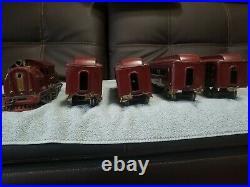 Vintage Lionel prewar standard gauge 380e passenger set in good condition