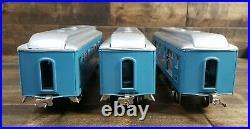Vintage Pre-War Lionel Standard Gauge Passenger Cars 309 310 312 with Boxes Blue
