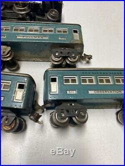 Vintage Pre War Lionel Trains O Gauge 258 Engine Runs With 5 Pullman Cars 20