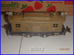 Vintage Prewar Lionel 253 Engine & 610 Passenger (3) & 612 Observation Mojave