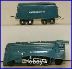 Vintage Prewar Lionel O Gauge #295 Streamliner Blue Streak Set withBoxes C6/C7