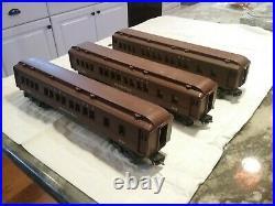 Vintage Prewar Lionel O Gauge Manhattan Pullman Passenger Cars #2623 Lot of 3