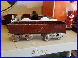 Vintage Prewar Lionel Standard Gauge #12 Lake Shore Red Gondola Freight Car #2