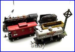 Vtg 1930s Prewar Lionel O Gauge 261 Steam Engine 257-T Tender Train Set 654 657